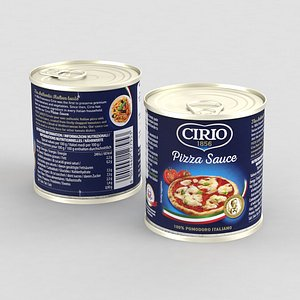 3D model Food Can Cirio Pizza Sauce 190g 2021-Max2012