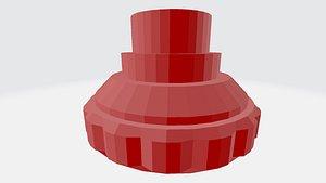 hybrid wheel beyblades 3D model