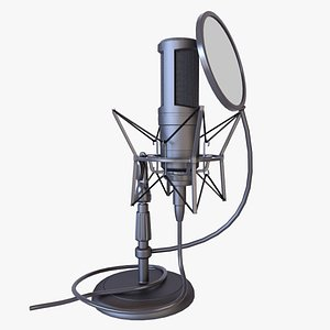 3D model condenser microphone desktop stand
