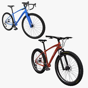 Gravel and MTB Bicycle Collection 3D model