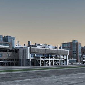 industrial scene 3D
