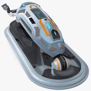fi cryogenic pod console 3D model