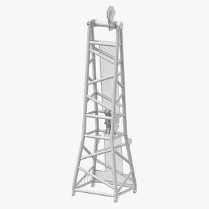 crane d head section 3D model