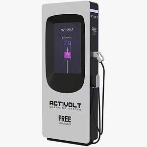 ev charging station 3D model