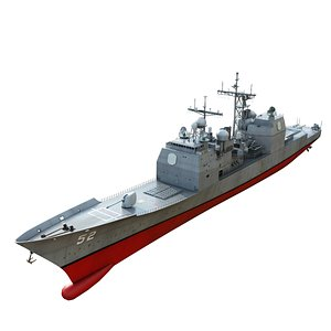 3D Aegis Cruiser CG-52 USS Bunker Hill