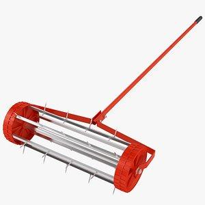 Lawn Spike Roller 08 3D model