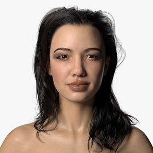Natalia Rigged Full Body Scan 3D model
