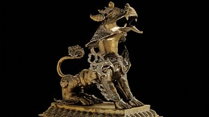 3D Brass Lion with 3 LOD - Nepal Heritage