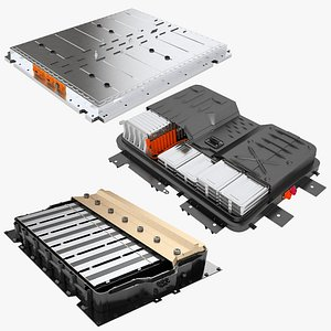3D model Electric Cars Battery Collection 01