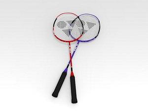 3D Badminton Raquet model