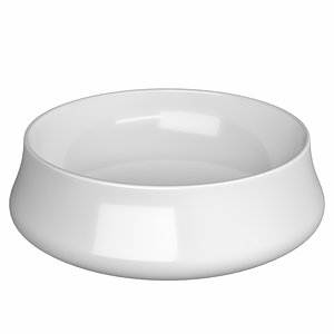 table wash basin shape 3D model