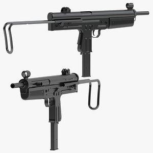 3D model FMK-3 submachine gun