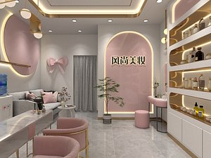 Nail salons beauty salons  hair and makeup shops  cosmetics shops 3D model