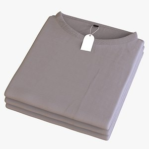 3D model Stacked Folded Tshirts
