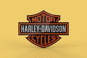 3D HARLEY DAVIDSON EMBLEM LOGO BADGE SYMBOL HDC CLUB model