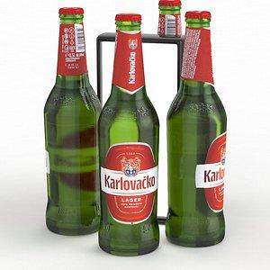 Beer Bottle Karlovacko Lager 500ml 2021 model