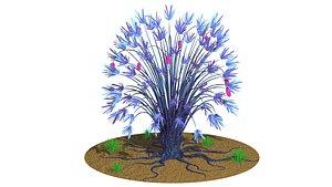 3D model plant nature bush