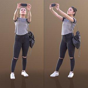 3D model 10501 Sheone - Woman Taking Photo