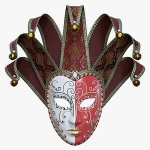 Carnival Venetian mask 02 3D model