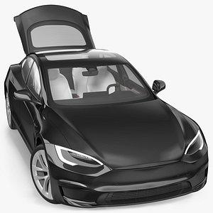 3D Electric Liftback Sedan Rigged