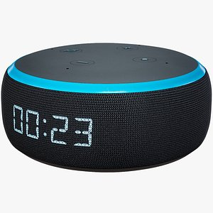 Smart Speaker Amazon Echo Dot Generation 3 Dark Skin 3D model