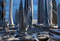 CBD. Future city. P4 model