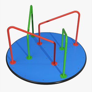 3D Merry-go-round carousel 04