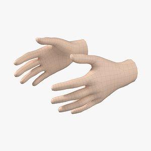 Female Hand Base Mesh 06 3D model