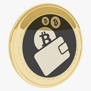 1irstcoin Cryptocurrency Gold Coin 3D model