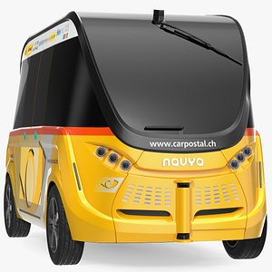 Navya Arma Car Postal Driverless Electric Bus Exterior Only 3D model