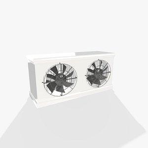 3D model cold store evaporator