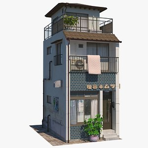 3D model building architecture store