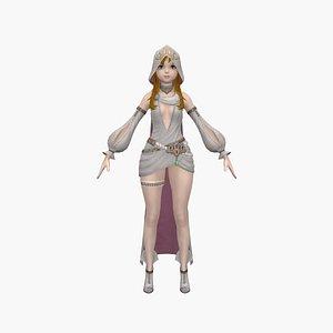 3D girl princess child model
