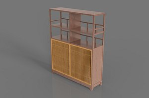 Shelf display shelf wooden shelf cabinet shelf bookcase bookshelf locker vintage furniture shelf she 3D model