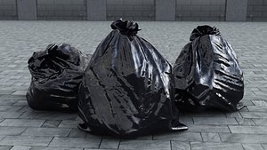 3D garbage bag model