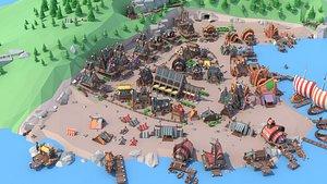Viking village 3D