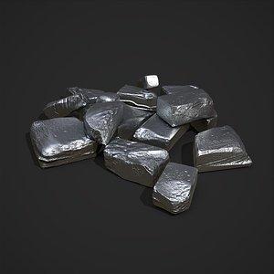 Pewter Chunks 3D model