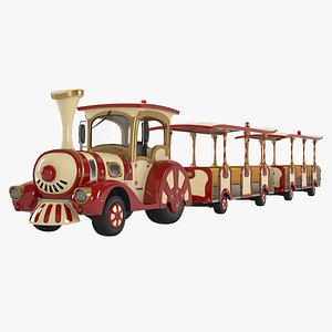 touristic wheel train 3D model