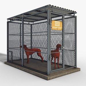kennel dogs 3D model