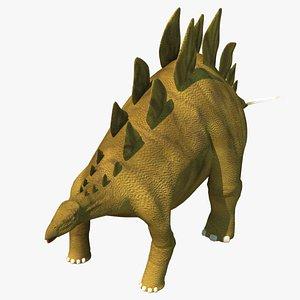 3D model stegosaurus dinosaur