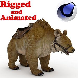 Brown BEAR Rigged and Animated 3D model