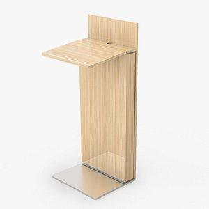 3D lectern conference modo model