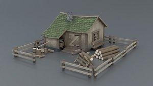 Lumberjack House 3D model