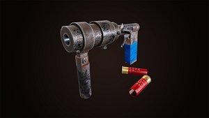 Self-Made Gun 3D model