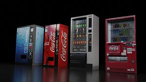 Vending Machine Collection- Pack of 4 3D model