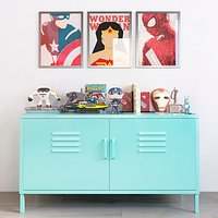 Superhero teen room decor set