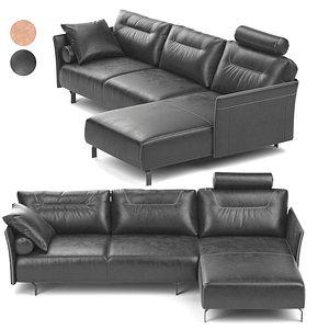 Tenore Corner Sofa by Natuzzi 3D model