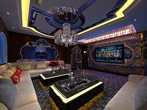 KTV bar box room big box entertainment club volume sales type science fiction technology sense 3D