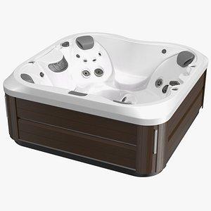 3D Jacuzzi J 335 Hot Tub Brown