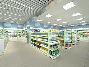 pharmacy s store 3D model
